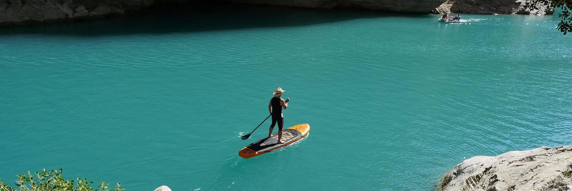 Paddle dans le Verdon