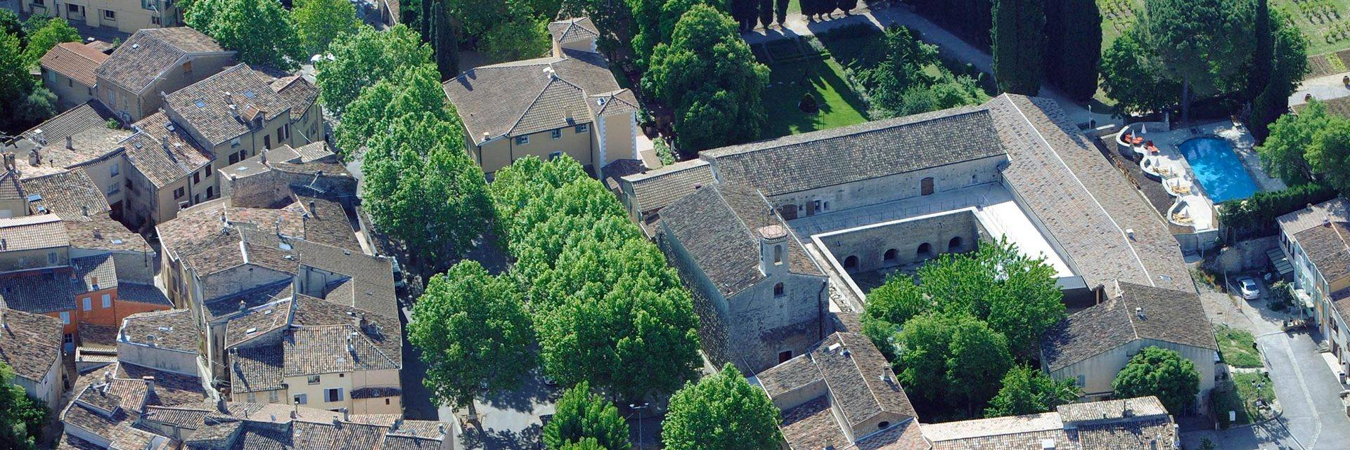 La Celle Abbey seen from above