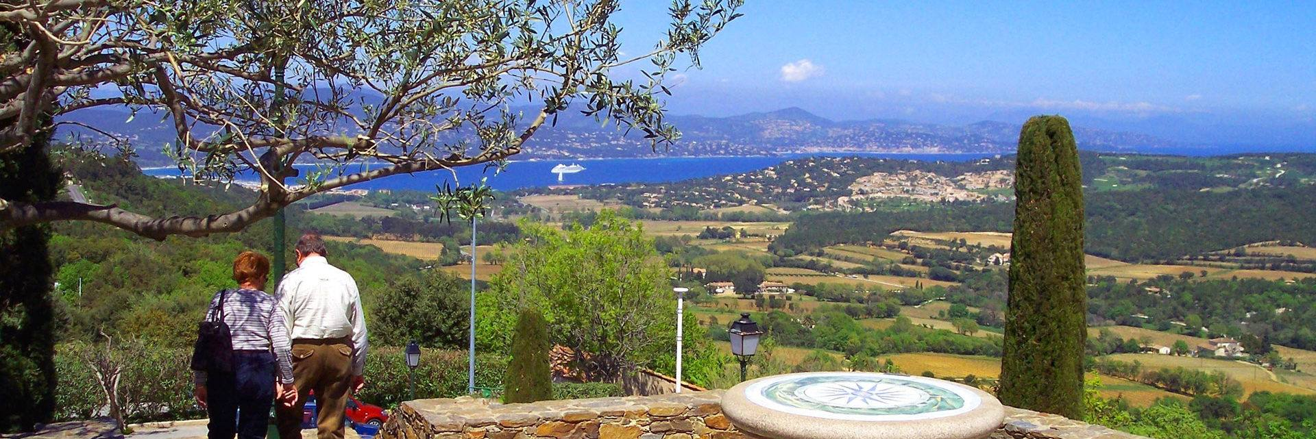 View over the Bay of Saint Tropez from Gassin