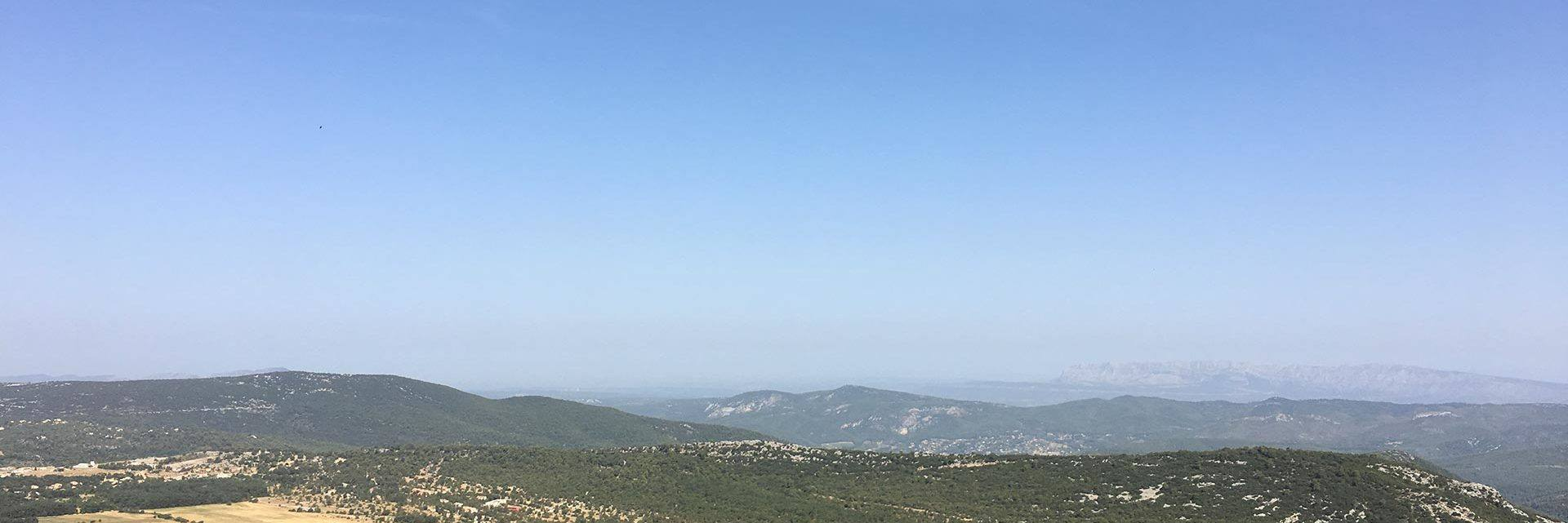 Panoramic view from Sainte Baume