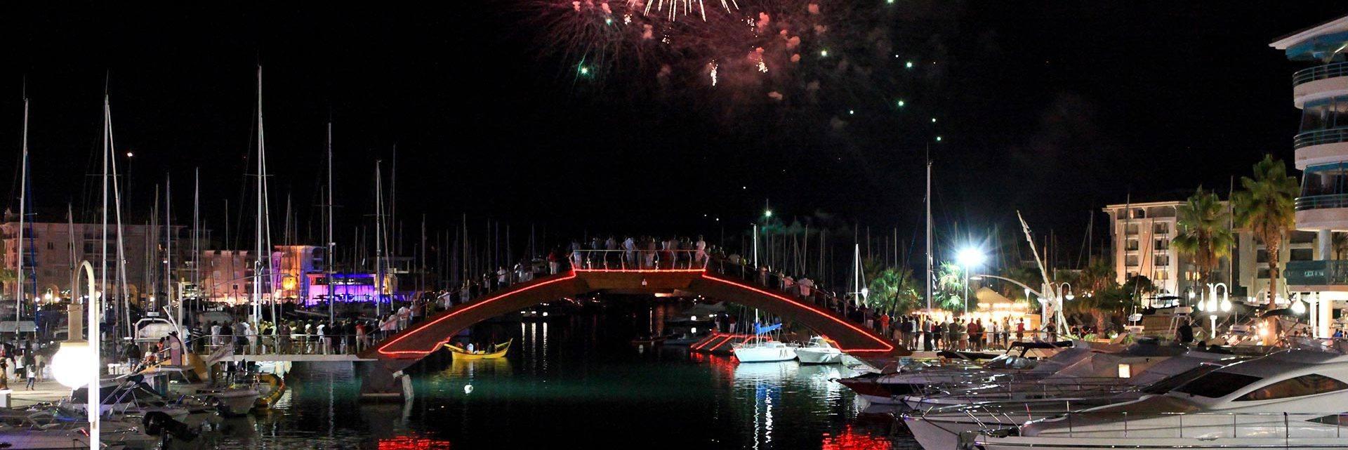 Fireworks in Fréjus Port