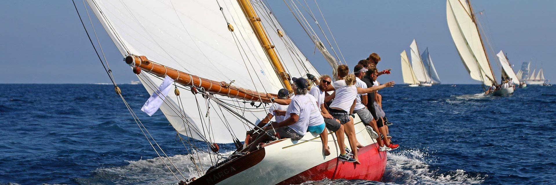 Les Voiles de Saint Tropez en mer