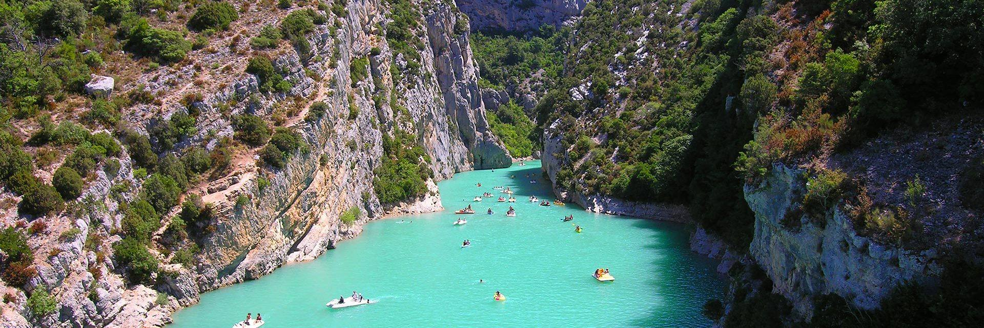 In the Verdon gorges